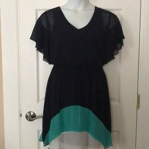 EnFocus color block butterfly sleeve dress